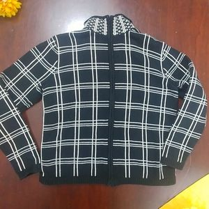 Talbots Cotton Zip Up Cardigan Sweater Warm Small